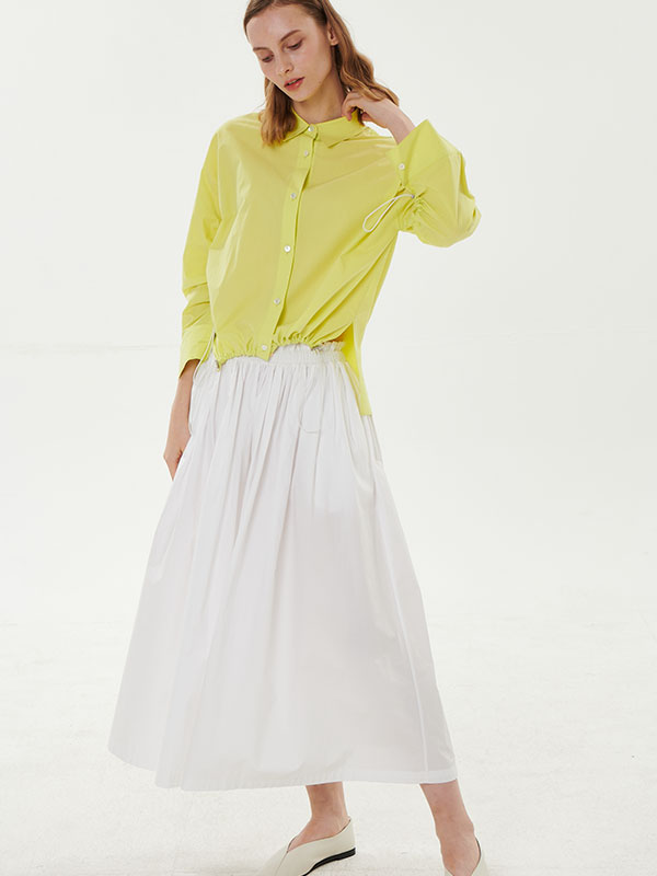 COTTON STRING SKIRT_WHITE