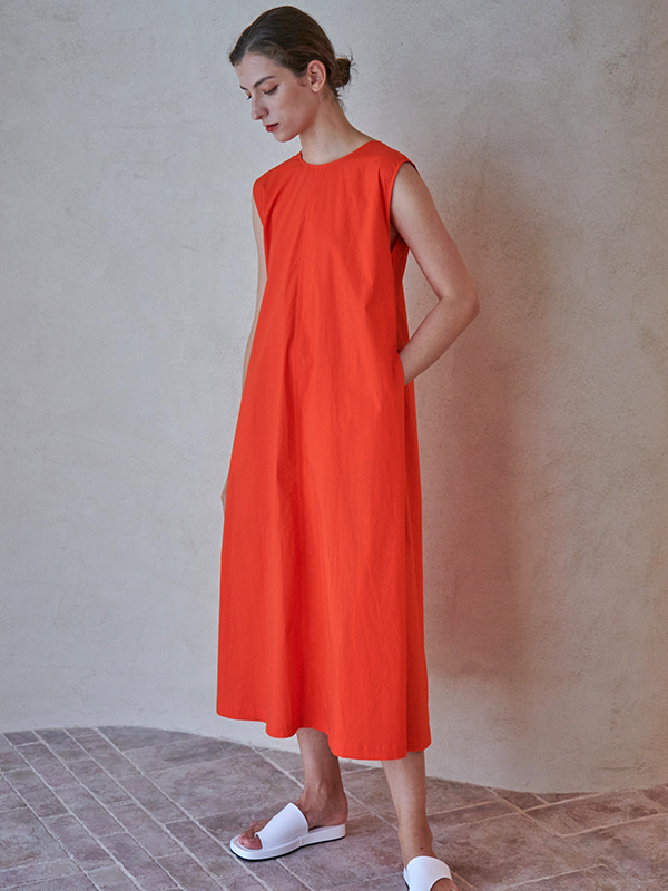 V-NECK TIERED ONEPIECE_ORANGE