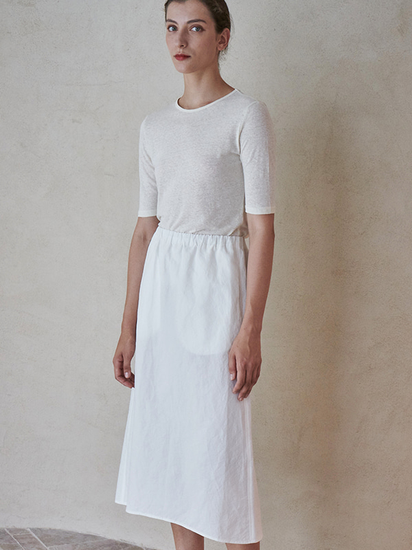 BANDING SKIRT_WHITE