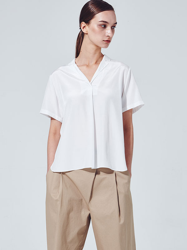 [30%SALE]Silky summer blouse_white