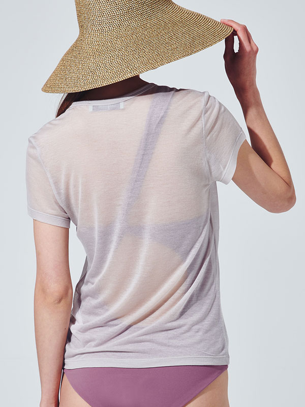 [30%SALE]See through t-shirt_light beige