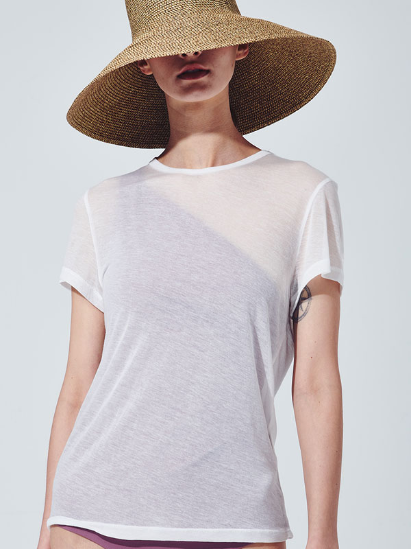 [30%SALE]See through t-shirt_white