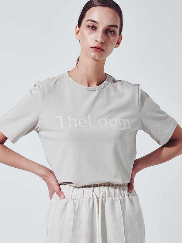 [30%SALE]Theloom logo t-shirt_light beige
