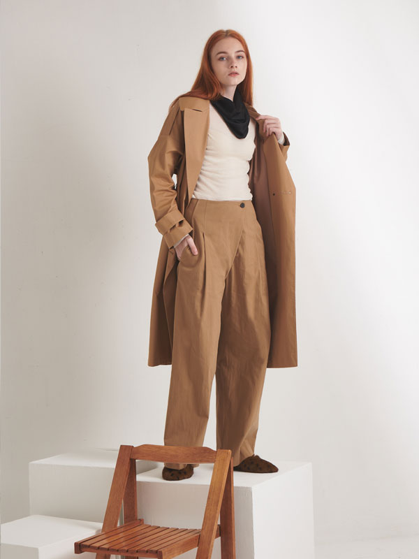 [30%SALE]Wrap pants_beige