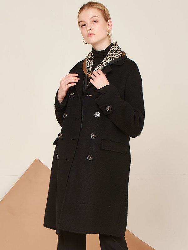 [50%SALE]Alpaca double half handmade coat_2color