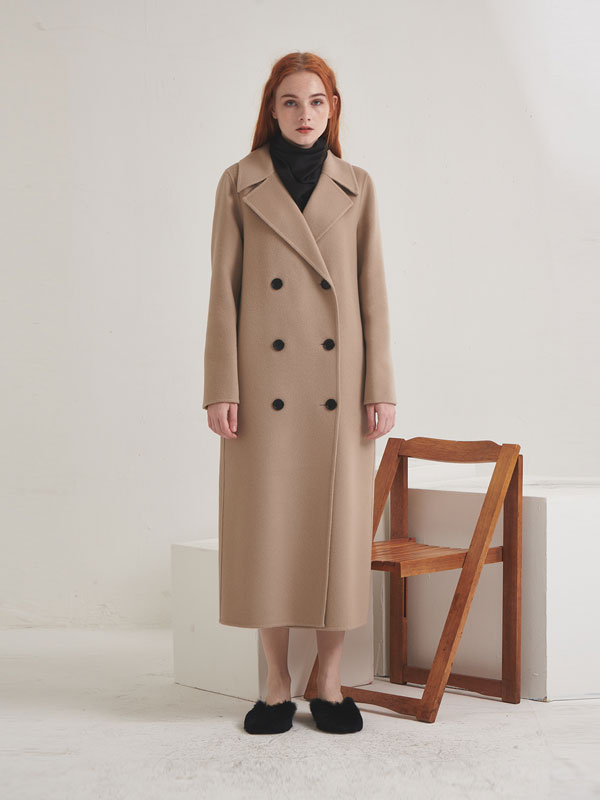 Double long coat_beige