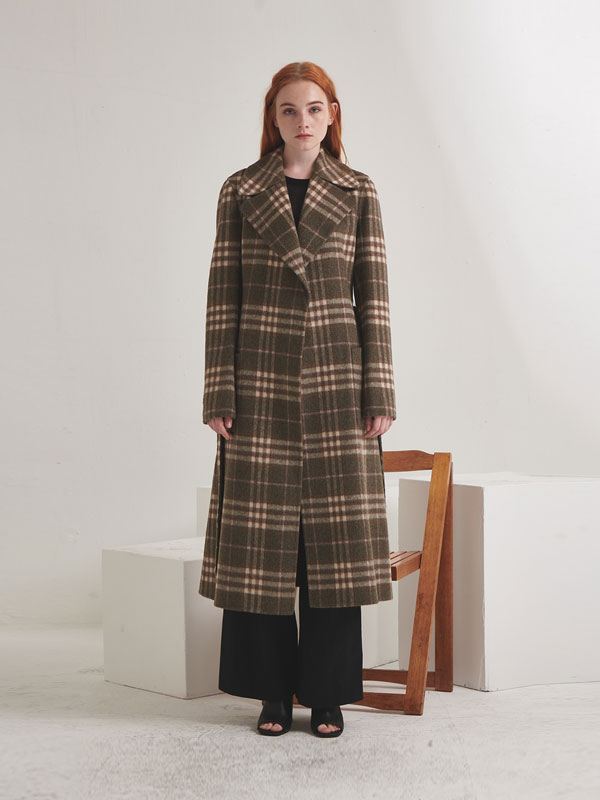 Reversible check coat_khaki