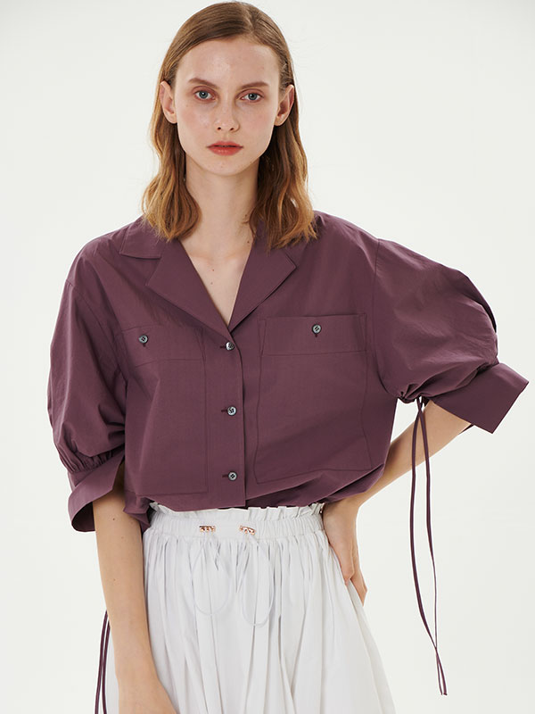 PUFF SHIRT_PLUM
