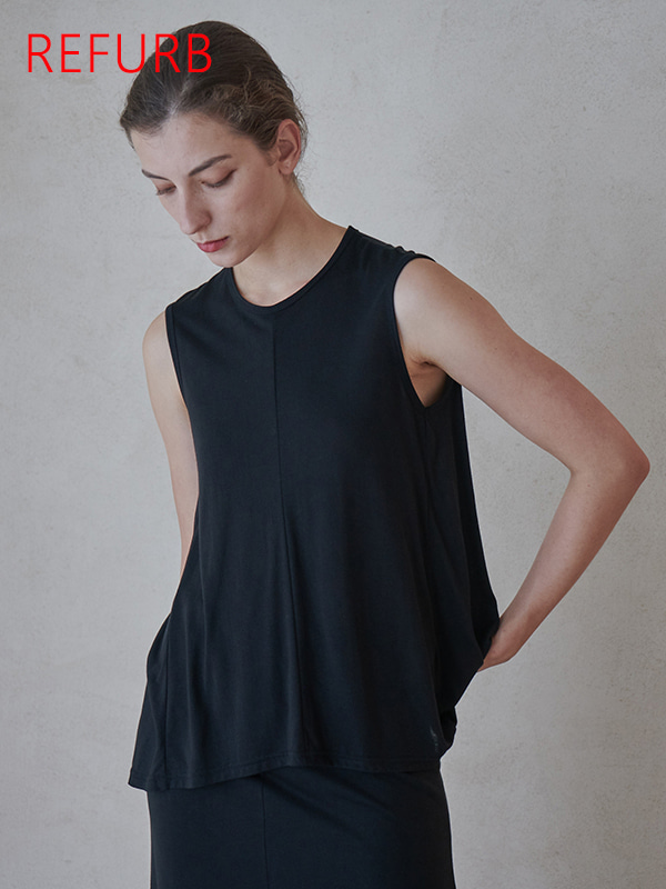 [REFURB]TENCEL FLARE TOP_BLACK