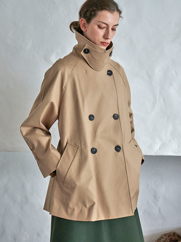 HALF OVER COAT_BEIGE