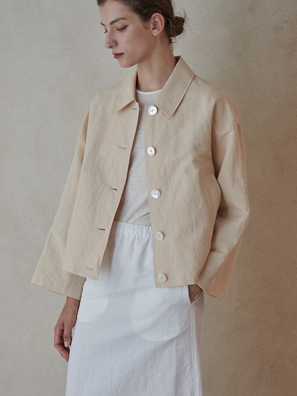 OVERFIT JACKET_BUTTER CREAM