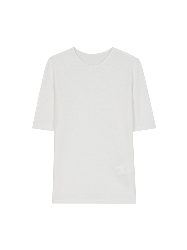 HEMP T-SHIRT_WHITE